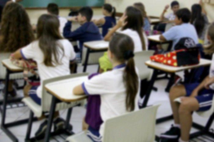 Alunos em sala de aula Foto Comunicação PMBC