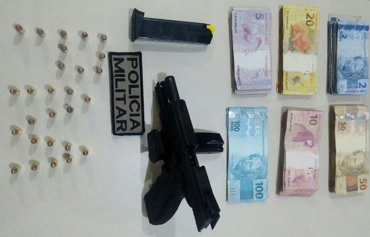 pistola e munições
