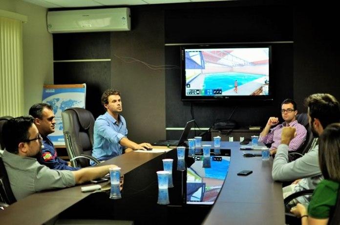 apresentação do projeto do Complexo Aquático