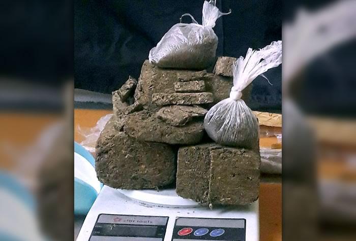 1104 gramas de maconha