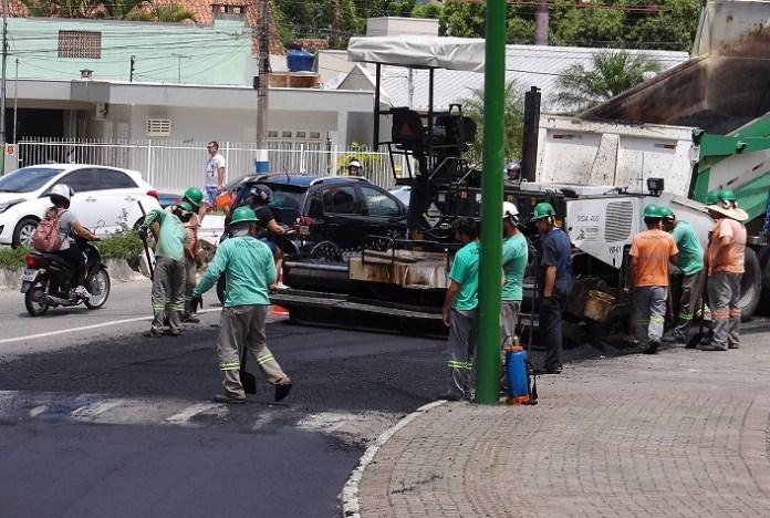 Obras Requalificação das vias Av Marthin Lither com Estado14 02 18 Foto Celso Peixoto 9