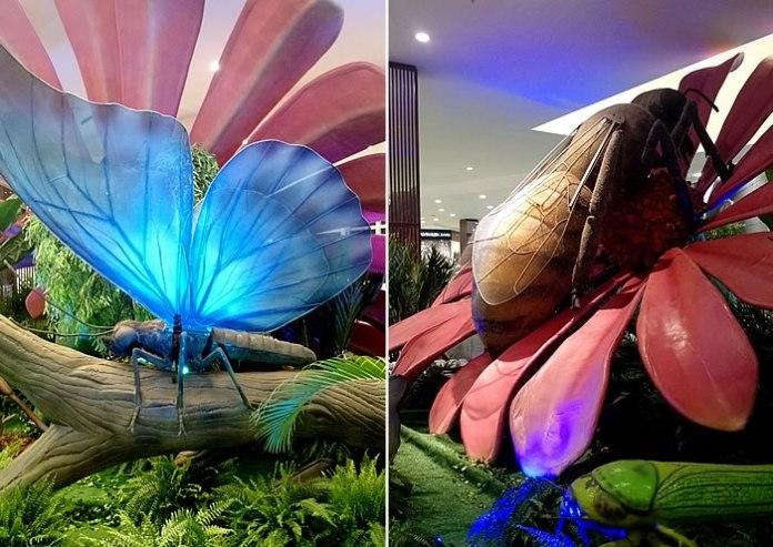 insetos no shopping