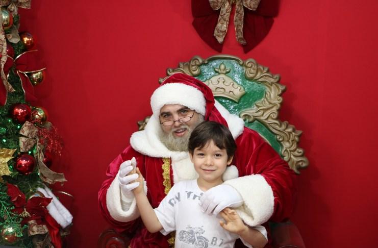 Papai Noel já chegou em Balneário Camboriú