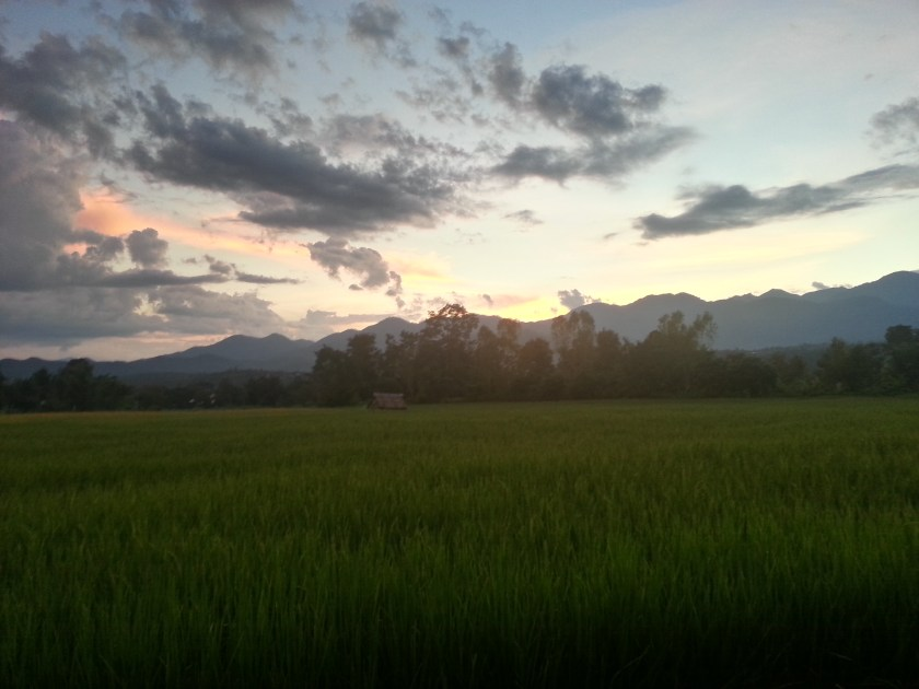 Pai, as the sun sets in the Valley