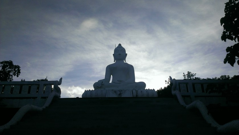 The White Buddha at sunrise