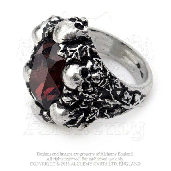 Alchemy Gothic Shadow Of Death Pewter And Swarovski