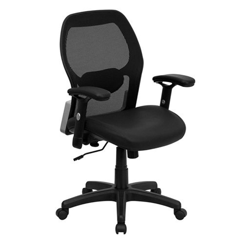 balt posture perfect chair desk uk mid back super mesh office with black leather seat lf w42b l decorative floating wall shelf