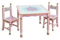Guidecraft Preschool Princess Girl Kids Pink Play Table ...