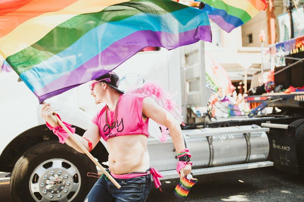 Flying a Pride flag