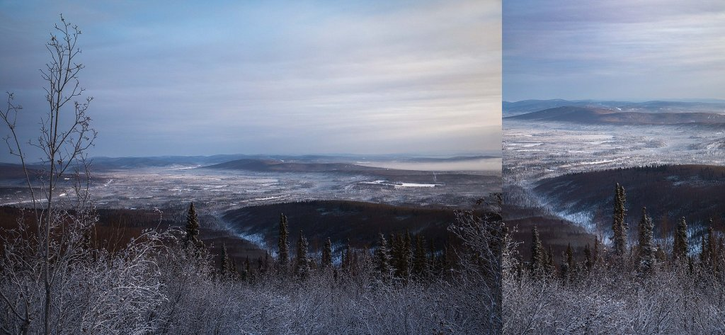 View from Ester Dome in winter taken by Kimberly Kendall