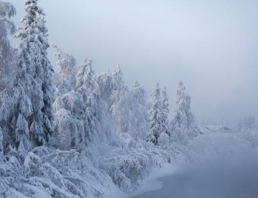 Chena River in Fairbanks in winter