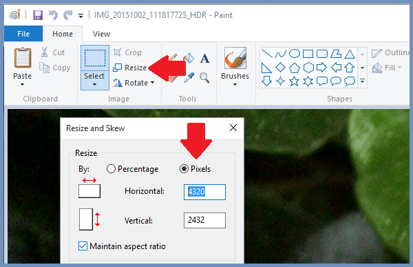 Resize Pictures In Paint