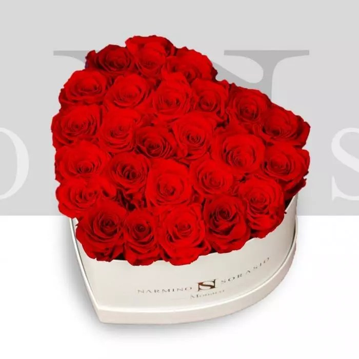 heart flower box with
