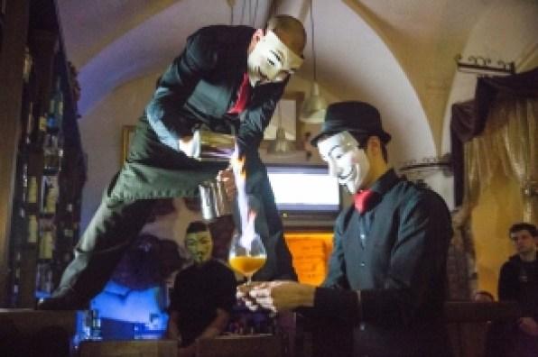 Anonymous Bar, Prague, dining, hotel, travel, drink
