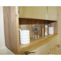 Solid Light Oak Bathroom Cabinet Storage Unit | Click Oak