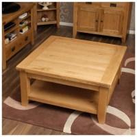 Vancoouver Rustic Oak Large Square Coffee Table | Click Oak