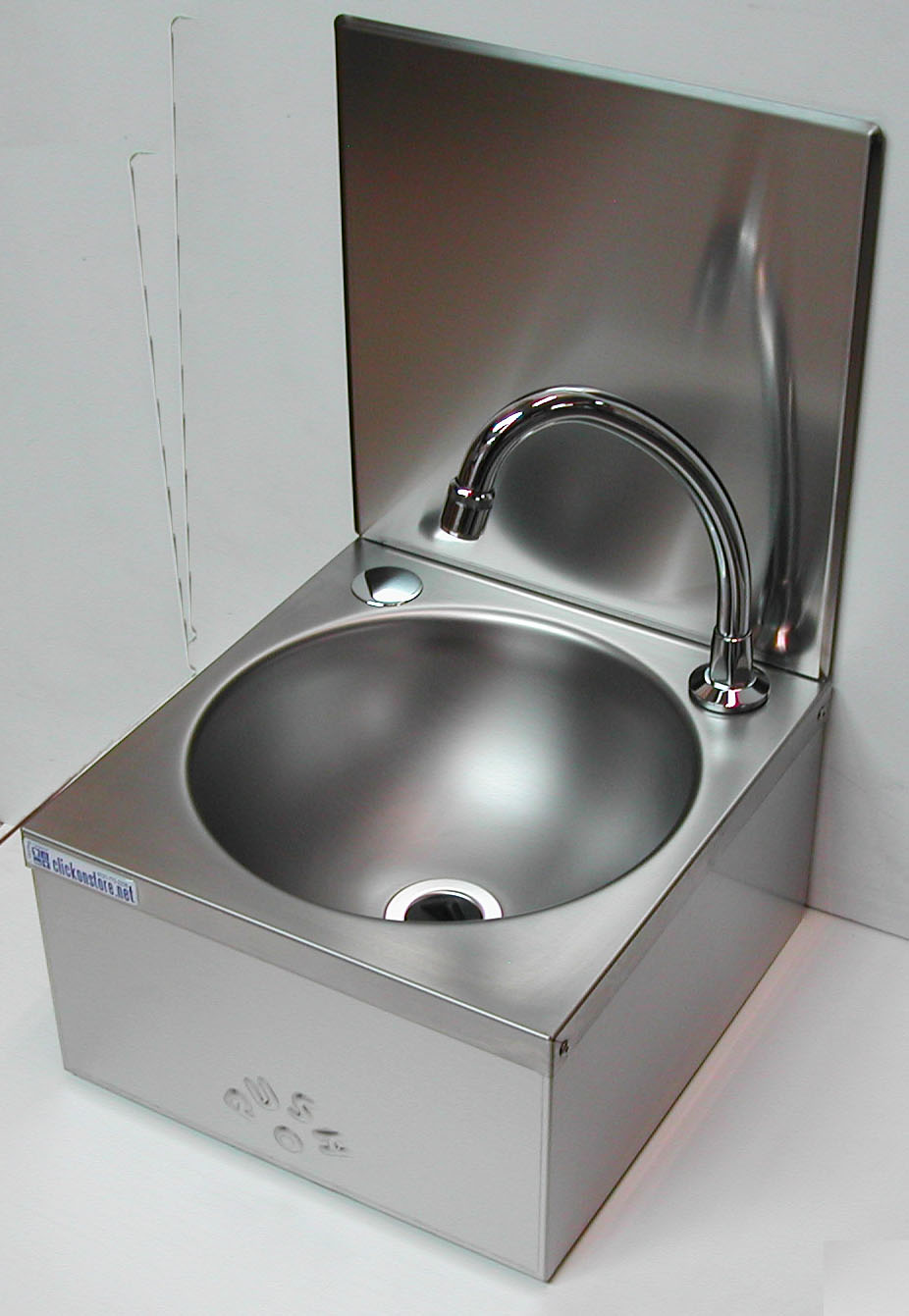 Hand Sink  Knee Operated with Splashback Sinks Bowl and Splash Back Kit  Vwhb010  Hand Basin