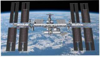 What the ROSA panels will look like on the space station after installation. (Image: NASA/Redwire)