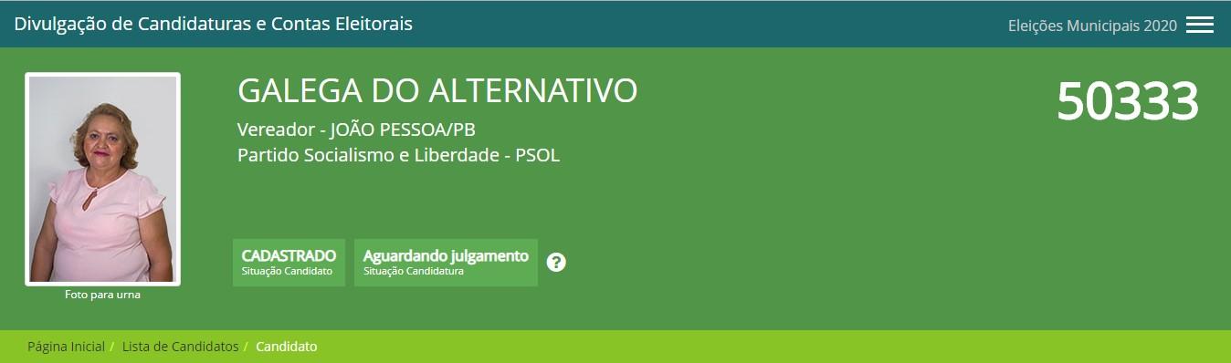 """galega do alternativo - Nomes bizarros e estranhos dessas eleições em João Pessoa: """"Galega do Alternativo, Vaquinha Elvira e Coroa Boy""""; veja mais"""