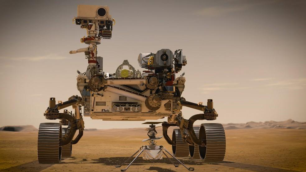 robo-perseverance Robô Perseverance envia primeiras fotos coloridas de Marte