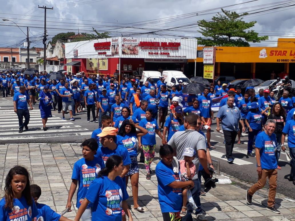 whatsapp image 2018 08 30 at 100226 am - Funcionários da Cagepa protestam contra privatização da empresa