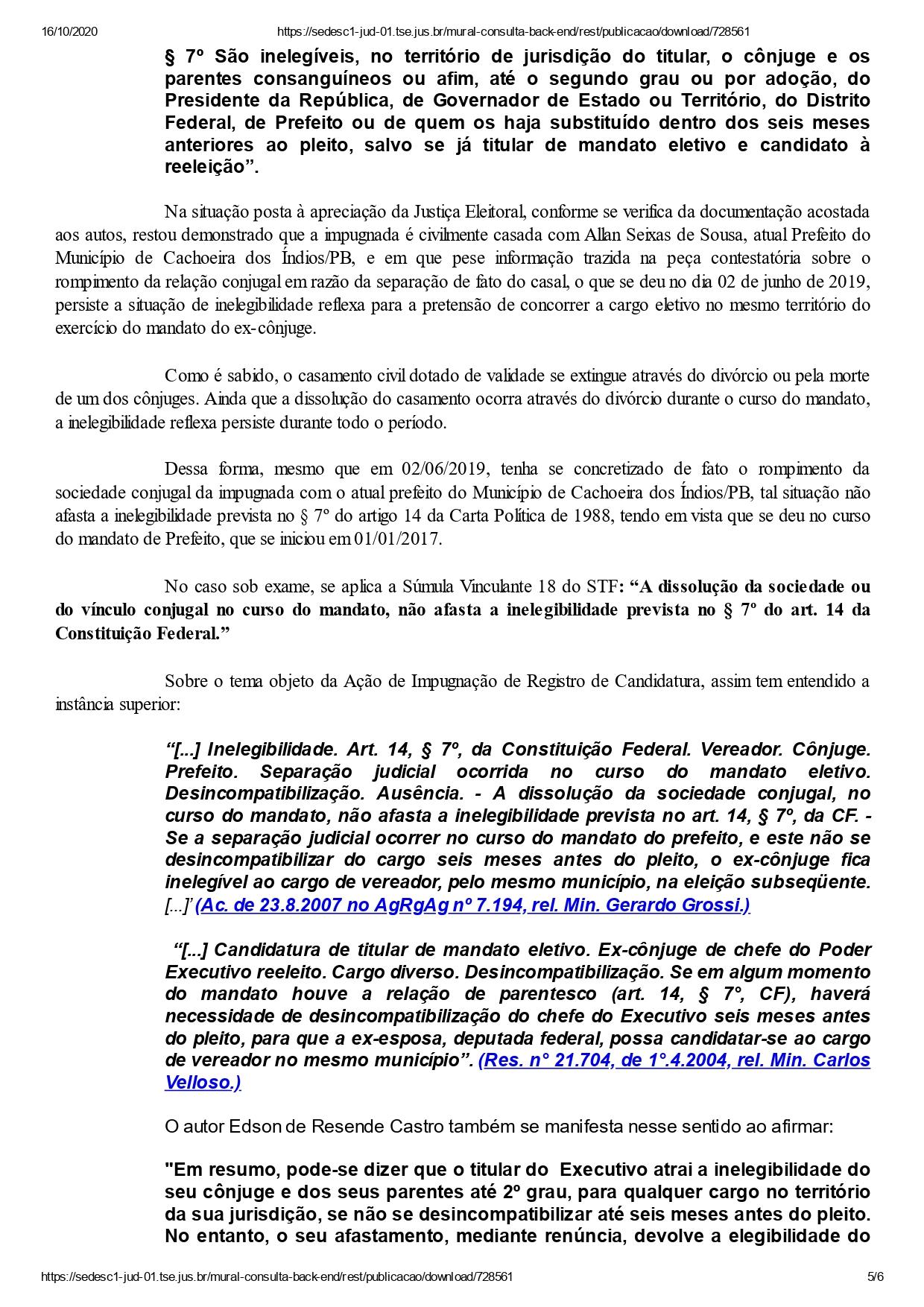 cachoeira dos indios mabel page 0005 - DECISÃO: Justiça Eleitoral indefere registros dos dois únicos candidatos a prefeito de Cachoeira dos Índios