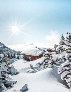 Winter in den Tiroler Bergen