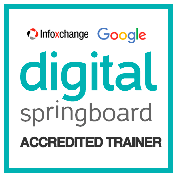 Clickstarter is an accredited Google * Infoxchange Digital Springboard Trainer