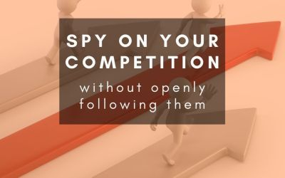 How can I see what my competitors are doing on social media without following them?