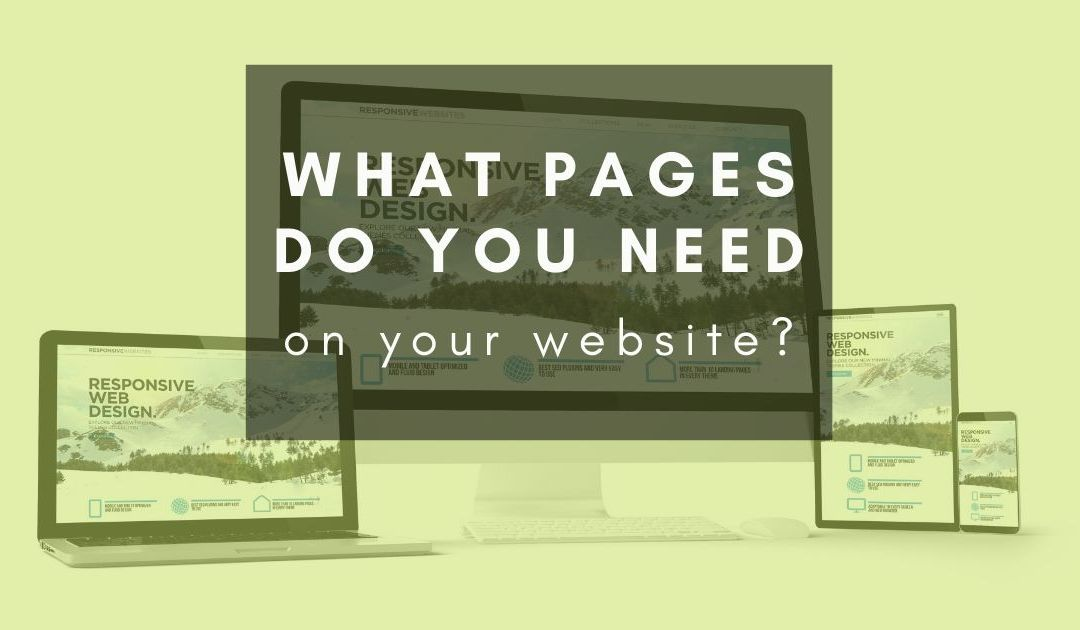 What pages do you need on your website?