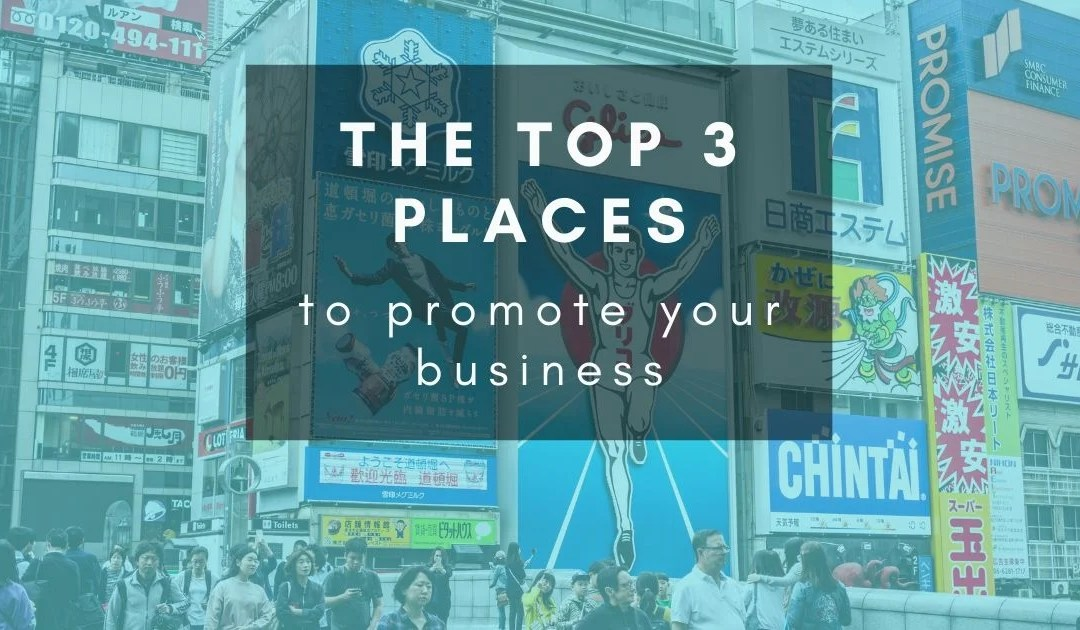 The most important places to be looking at when it comes to marketing