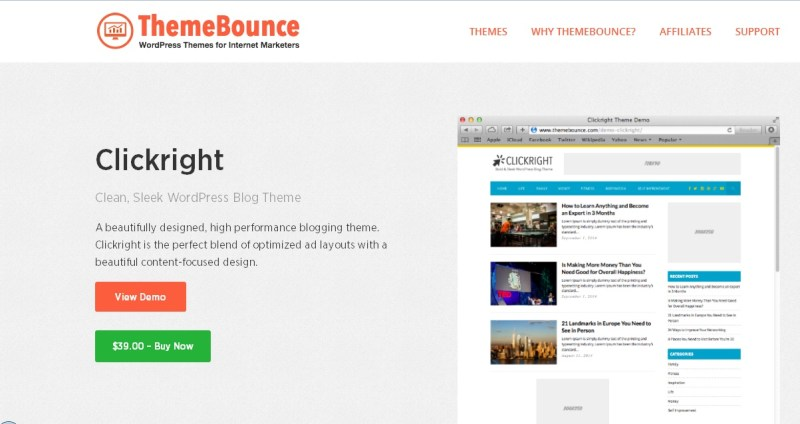 Clickright WordPress Theme - ThemeBounce