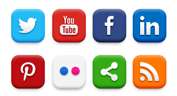 2015 Majestic High Social Media icons for Free