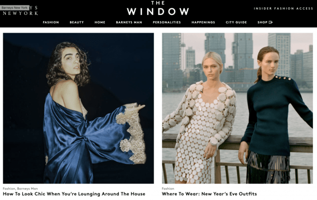 Barneys: The Window
