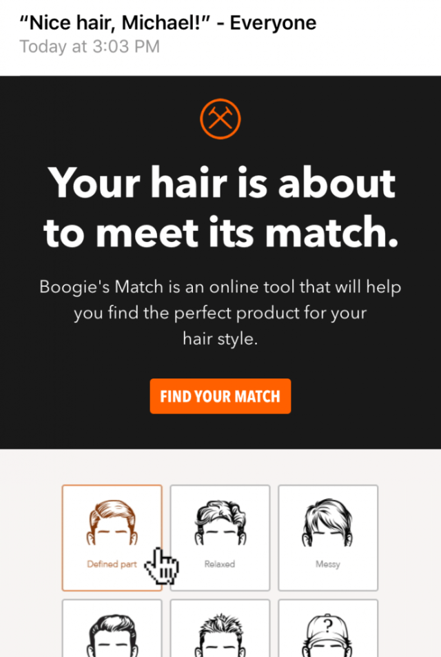 Dollar Shave Club onboarding quiz
