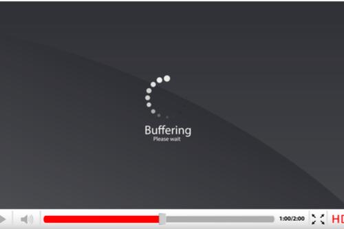 screenshot of video buffering, please wait