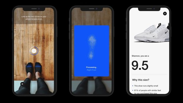 Personalization - Nike's size app