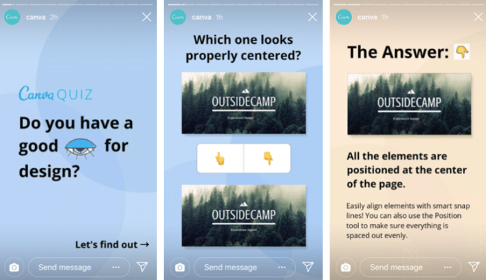 Example of Canva's Instagram posting