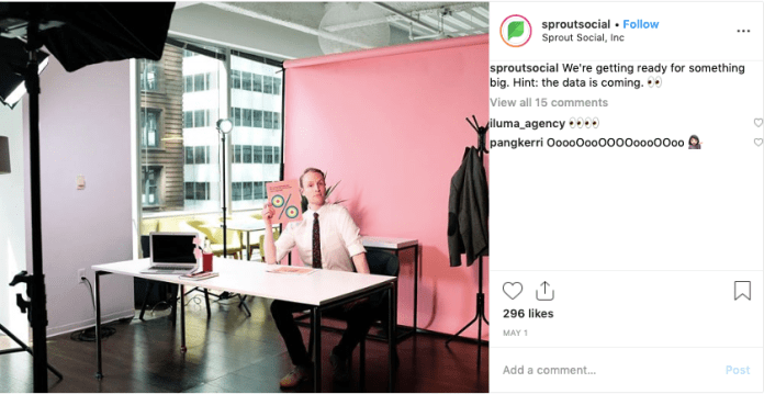 """Example of SproutSocial's """"behind the scenes"""" Instagram posts"""