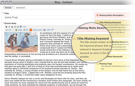 example of an ideal blogging tool