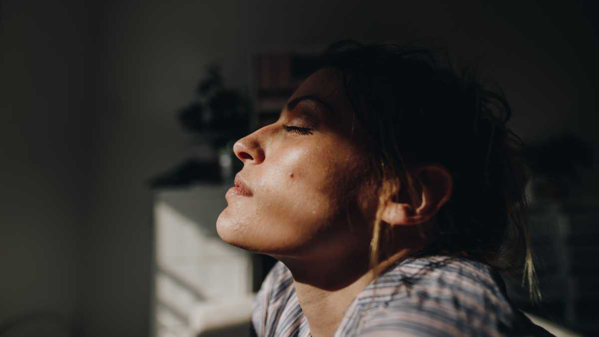 Anxious woman. How fitness can relieve anxiety