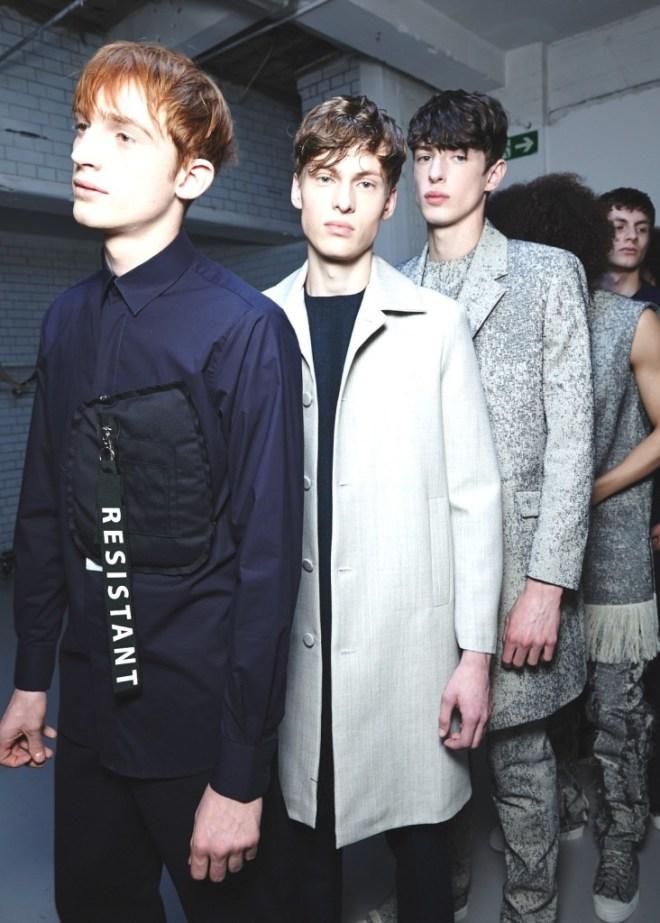 Matthew Miller AW15, backstage (Ph: Sam Wilson, British Fashion Council)