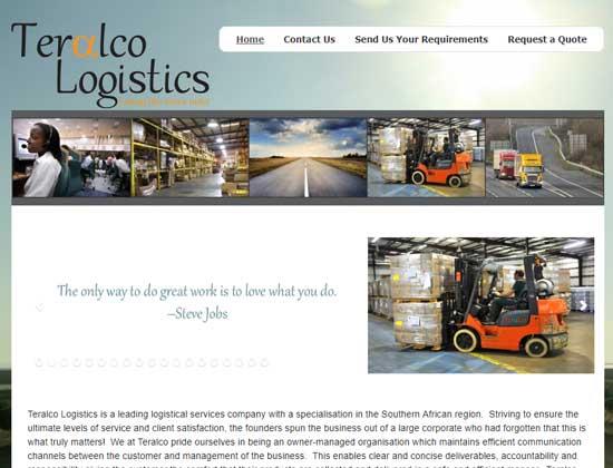Teralco Logistics is 'n toonaangewende logistieke diensmaatskappy met 'n spesialisasie in die Suider-Afrikaanse streek.
