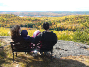 Family on Blueberry Mountain