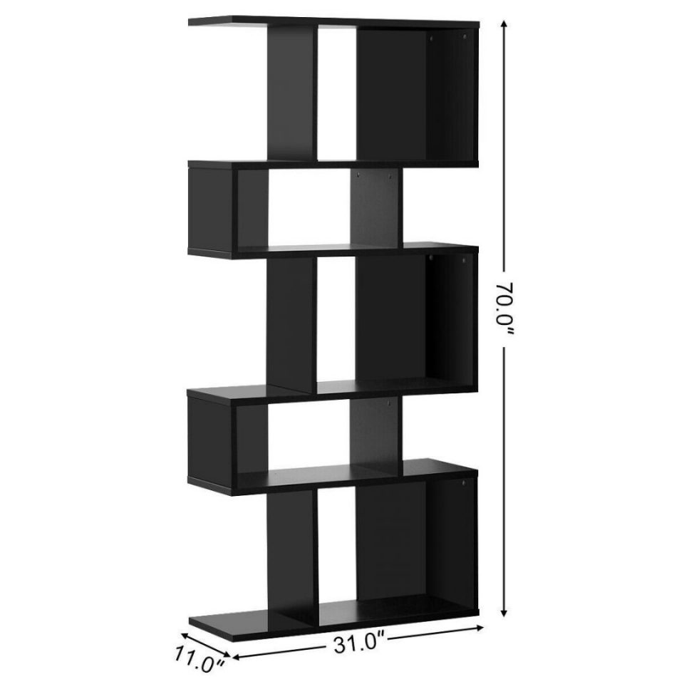 Black Ladder Shelf Corner Display Rack