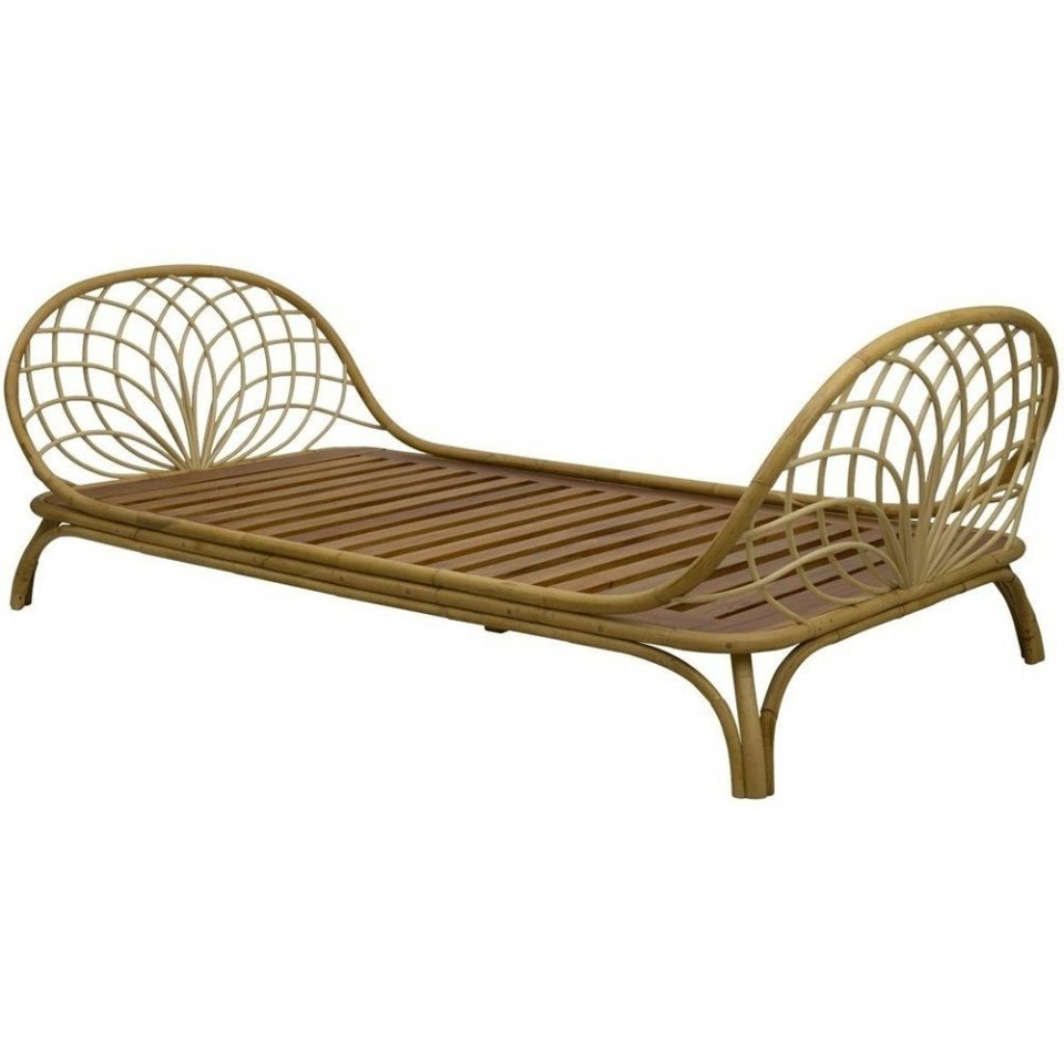 Bohemian Fern Rattan Daybed For Outdoor
