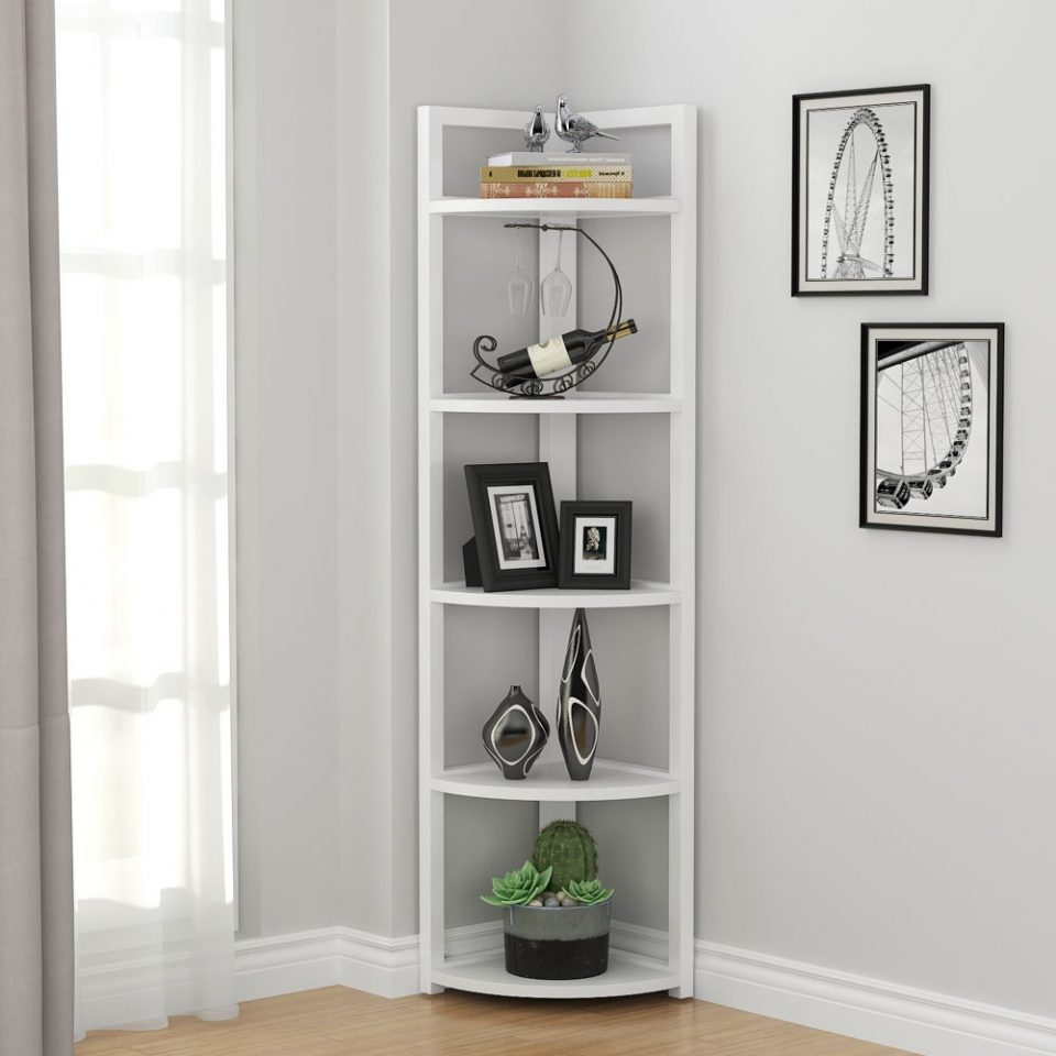 Corner Shelf Rustic Rack Stand Small Space