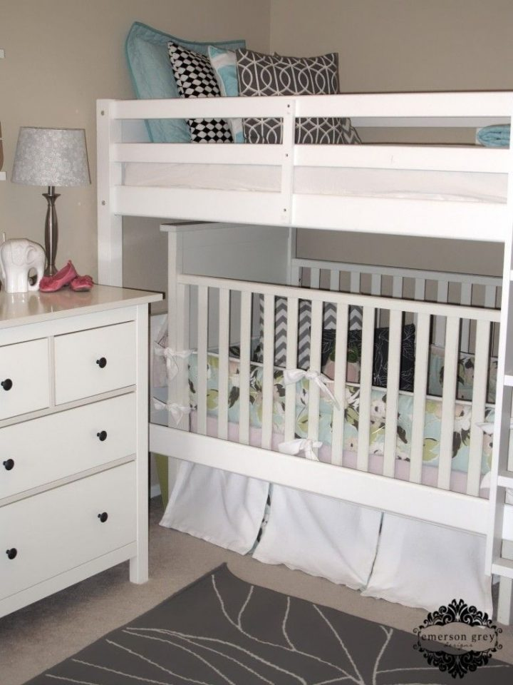 crib bunk bed kids room