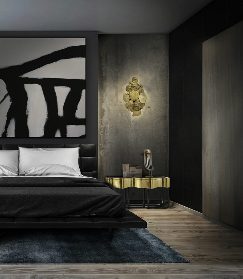 dark stylish goth bedrooms