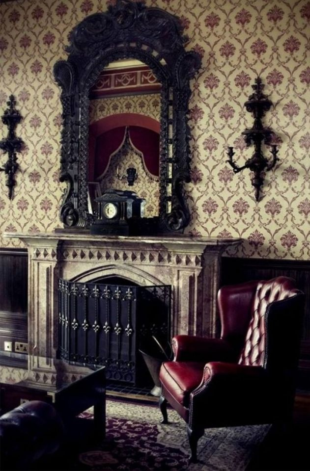 gothic wallpaper room